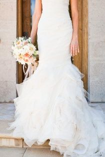 fishtail mermaid wedding dress. I actually like the bottom of this one....