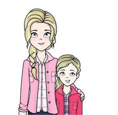 Big Annabeth and little Annabeth | Percy Jackson