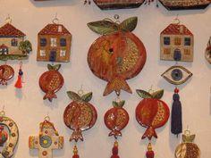 πήλινα γούρια - Αναζήτηση Google Clay Art, Rock Art, Diy And Crafts, Christmas Crafts, Clock, Google, Decor, Watch, Decoration