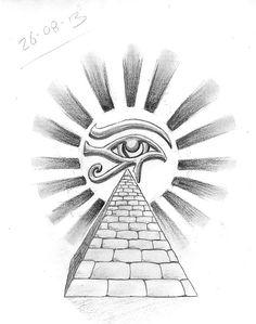 Eye of Horus and Pyramid tattoo design #cultural #tattoo #tattoos