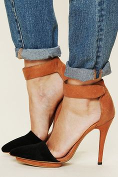 Theres something special about these awesome two-toned sandals from Jeffery Campbell!