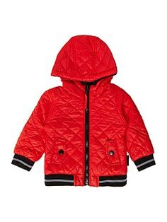 Baby boys reversible wool and fleece jacket