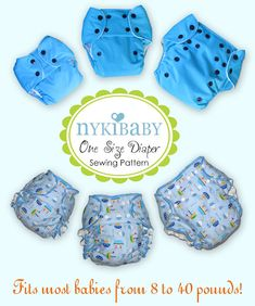 One size cloth diaper sewing pattern  These seem like they'd be really cool to make!