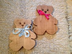 Teddy bears can be named and hook put on back for children's bedrooms. £15.00 each