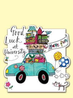 Good Luck at University Greeting Card by Rachel Ellen