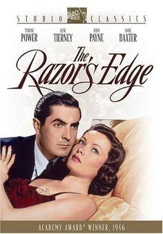 The Razor's Edge (1946) Poster starring Tyrone Power, Gene Tierney, etc.