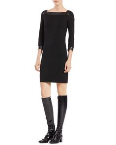 Three-Quarter-Sleeve+Viscose+Dress+by+Gucci+at+Neiman+Marcus.