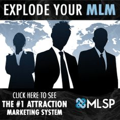 MLM Attraction Marketing System - Build Your Brand - MLM Attraction Marketing is what works when you want to have people search you out regarding your products, your business, and most importantly, YOU.  But how do you implement it?  Is there a cohesive, easy to understand and EFFECTIVE MLM Attraction Marketing System out there?