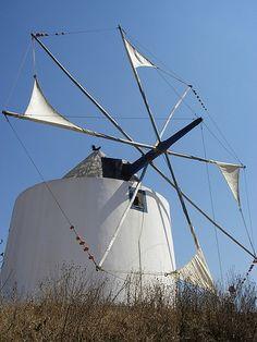 Moinho de Vento de Odeceixe Algarve, Portugal, Iberian Peninsula, Candle In The Wind, Water Tower, Le Moulin, Beach Resorts, Windmill, Portuguese