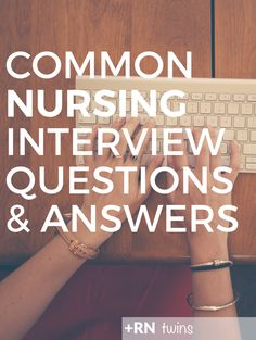 Are you wondering which questions you'll face in that nursing interview you have coming up? We've got you covered! Click through to read the common nursing interview questions with sample answers! Nursing School Tips, Nursing Notes, Nursing Tips, Nursing Scrubs, Travel Nursing, Nursing Schools, Rn Resume, Nursing Resume, Nursing Career