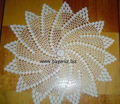 This Pin was discovered by eme Tesettür Eşarp Modelleri 2020 Crochet Dollies, Crochet Borders, Crochet Stitches Patterns, Thread Crochet, Crochet Motif, Crochet Designs, Crochet Table Runner, Crochet Tablecloth, Crochet Home