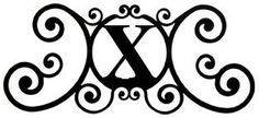 VWI HP-OD-X House Plaque Let X Powder Metal Coated by Village Wrought Iron. $62.00. Color is Black. Silhouette Sizes Vary Slightly. Material is Wrought Iron. Finish is Flat Black Powder Metal Coated for that long lasting appeal. House Plaque - Measurements Are Approximate - Silhouettes Vary In Size