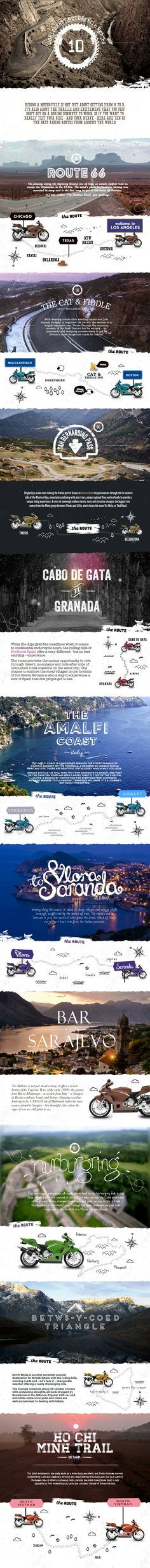 World's Best Motorcycle Routes Infographic