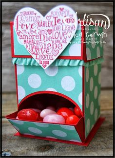 Valentine Mini Candy Dispenser Love this but can't buy just the pattern for this you have to buy it in a set and I only wanted this. :o(