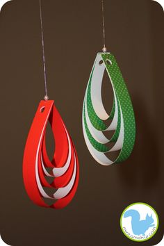 Christmas tree ornaments paper strips