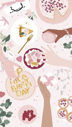 iPhone Wallpapers : ANA HARD - Art & Drawing Community : Explore & Discover the best and the most inspiring Art & Drawings ideas & trends from all around the world Happy Birthday Illustration, Cute Illustration, Walpapers Iphone, Birthday Wallpaper, Banner, Story Instagram, Happy Birthday Greetings, Cute Wallpapers, Iphone Wallpapers