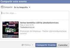 Sorteo bombillas LED by @todoelectricoes  y @promodeempresas   1er Premio:2 bombillas led 9w  2nd Premio:2 bombillas led 7w  https://www.facebook.com/events/463537377017443
