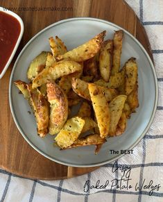 Looking for the BEST Crispy Baked Potato Wedges Recipe? Well you've found it! These delicious crispy wedges can be ready within an hour and are the perfect side or meal.
