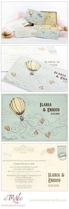 Vintage wedding invitation Card in Vintage style by e-MoVeo Cards Hochzeitseinladung invito matrimonio Vintage #Vintage www.emoveo-cards.com