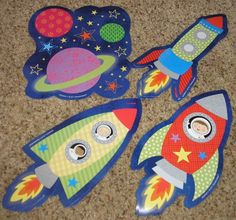 Teacher Resource 12 Rocket Space Bulletin Board Accents | eBay