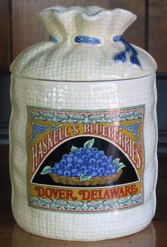 Haskell's Blueberries, Dover, Delaware - Canister (Coffee)