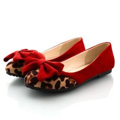 Red&Cheetah Bow Shoes