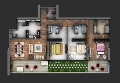 A three-bedroom home can be the perfect size for a wide variety of arrangements. Three bedrooms can offer separate room for children, make a comfortable space for roommate, or allow for offices and guest rooms for smaller families and couples. The visualizations here show many different ways that three bedrooms can be put to good …