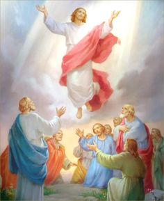 Jesus Picture Ascending To Heaven In Front Of Disciples