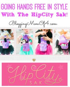HipCity Sak is a fun, hip little bag that makes life a little easier! Their hands free bags help girls on-the-go carry their small items, so moms don't have to!