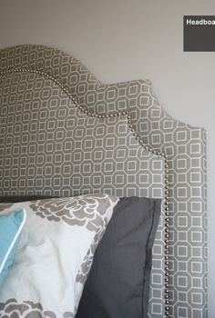 DIY upholstered headboard. Love the shape of this one. lots of ideas for the headboards but damn i am going to make one of these