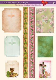 3-D GlamourGloss Bogen, kirchliche Motive, Din A4, Motiv 3