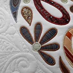 SRDCE J-Š - detail Brooch, Handmade, Jewelry, Fashion, Scrappy Quilts, Moda, Hand Made, Jewlery, Jewerly
