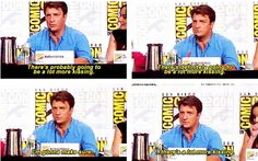 "Nathan answers the question ""what's going to change for Castle and Beckett now that they've finally kissed?""  I love this man"
