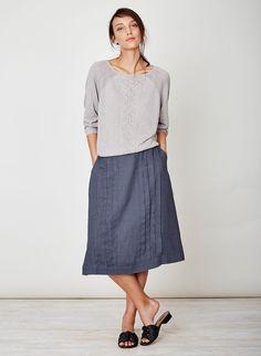Felipa Hemp Skirt Steel