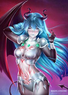 Amira (Demon Form) - Shingeki no Bahamut: Genesis by MadeleineInk on DeviantArt