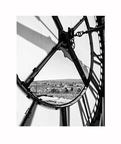 Black and White Clock Photograph, Fine Art Photography Print, Urban Decay Abandoned Photo, Modern Geometric, Abstract Steampunk Scranton by JillianAudreyDesigns on Etsy https://www.etsy.com/listing/186087622/black-and-white-clock-photograph-fine