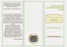Folhetos para aulas da Sociedade de Socorro: JOSEPH FIELDING SMITH capítulo 1 ao 6