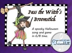 Students of all ages love singing this traditional halloween game song! Included in this file:- Full song in standard sheet music notation- Detailed directions to play the game- Beat charts for primary students- Extension composition project for intermediate students- Eight flashcards in 6/8 time**********************************************************Thank you for viewing my product!