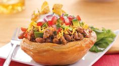 biscuit taco cups refrigerated biscuits make a grand holder for taco ...