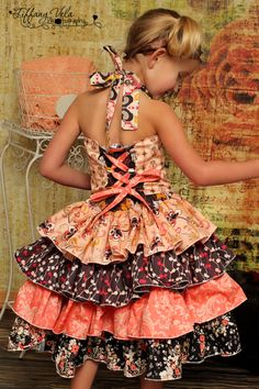 Download Primrose's Ruffled Corset Princess Dress Sewing Pattern | Aprons | YouCanMakeThis.com
