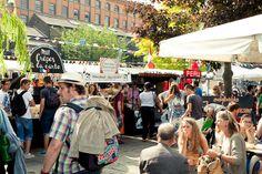Traditional Market in UK: Camden Lock, London