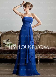 Evening Dresses - $119.99 - A-Line/Princess Strapless Floor-Length Chiffon Evening Dress With Ruffle Beading (017013808) http://jjshouse.com/A-Line-Princess-Strapless-Floor-Length-Chiffon-Evening-Dress-With-Ruffle-Beading-017013808-g13808