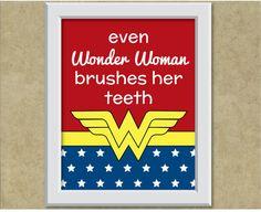 Even Wonder Woman brushes her teeth Batman Comic Art, Gotham Batman, Batman Robin, Wonder Woman Art, Wonder Women, Superhero Bathroom, Toilet Art, Dental Humor, Woman Bedroom