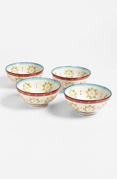 Hand Painted Ceramic Bowls (Set of 4) available at #Nordstrom