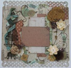 Vintage Scrapbook Layout at Diane's Niceties