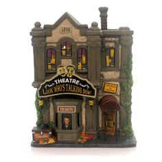 Department 56 House Look Who's Talking Now Theatre Village Halloween Lighted Building Height: 8 Inches Material: Ceramic Type: Village Halloween Lighted Building Brand: Department 56 House Item Number