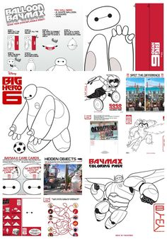Huge selection of BIG HERO 6 coloring pages, activity sheets, and printables for you!