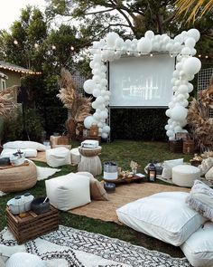Backyard Movie Nights, Outdoor Movie Nights, Disco Party, Movie Party, Party Time, Outdoor Dinner Parties, Backyard Parties, Backyard Camping, Backyard Birthday