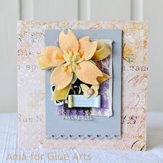 #GlueArts Adhesives makes this card come together from Designer @Ania Lexander