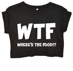 Minamo Women's W.T.F Where's The Food Crop Top Medium (38-40 inches) Black Minamo http://www.amazon.com/dp/B00LNCIBSW/ref=cm_sw_r_pi_dp_mFIBvb1SDGE1K